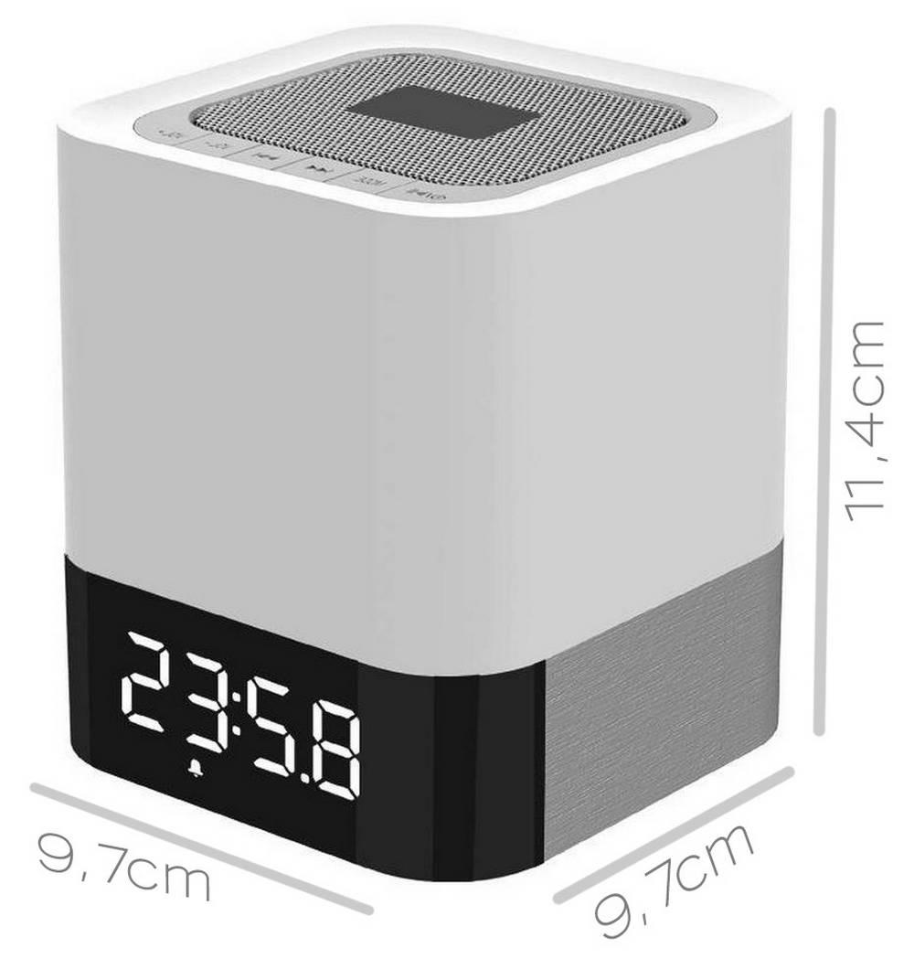 Φορητό Ηχείο Bluetooth Musky DY28 5W με Φωτισμό, Οθόνη, Ξυπνητήρι, Αισθ. Αφής, Ανοιχτή Ακρόαση και Υποδοχή USB