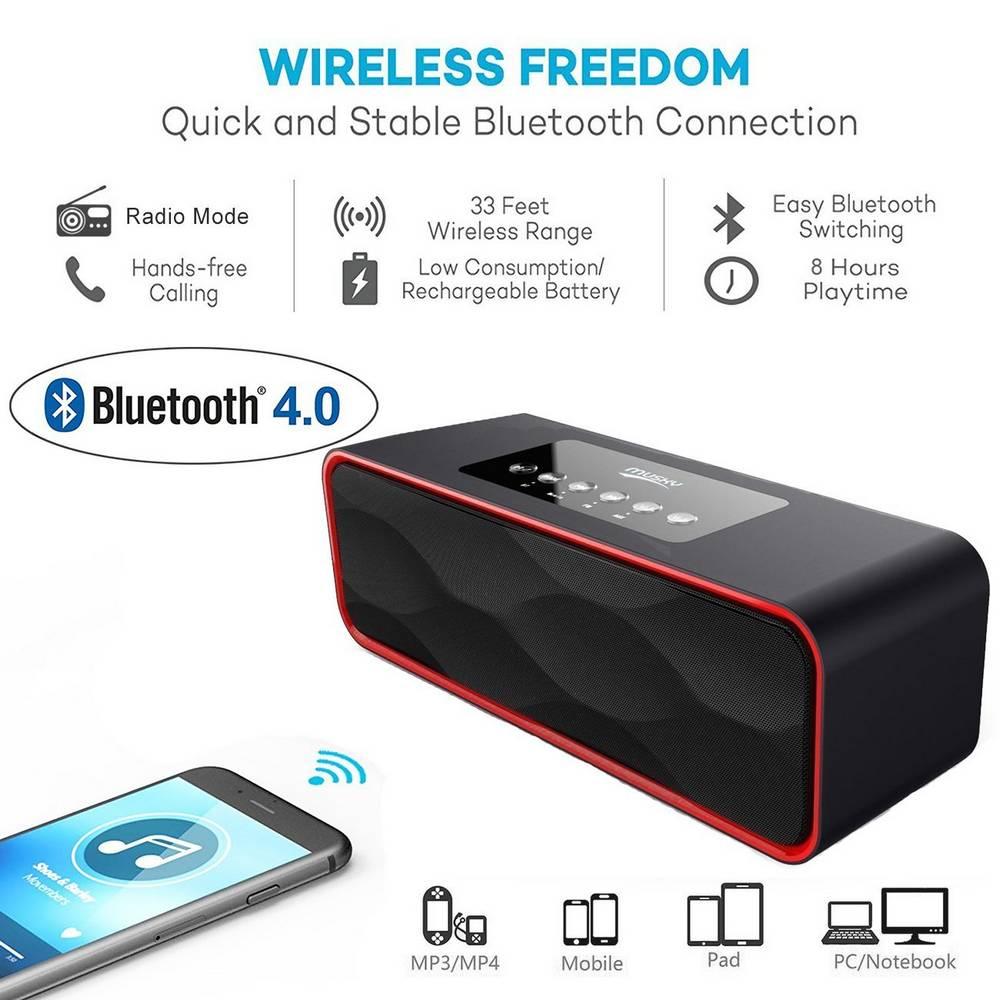 Φορητό Ηχείο Bluetooth Musky DY22 2x5W Μαύρο με Ραδιόφωνο,Ανοιχτή Ακρόαση, Audio-In και Υποδοχή USB