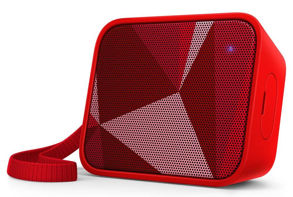 Φορητό Ηχείο Bluetooth Philips Pixel Pop BT110R/00 4W Sweat-Proof IPX4 Κόκκινο με Ανοιχτή Ακρόαση και Σύνδεση Audio-in 3.5mm