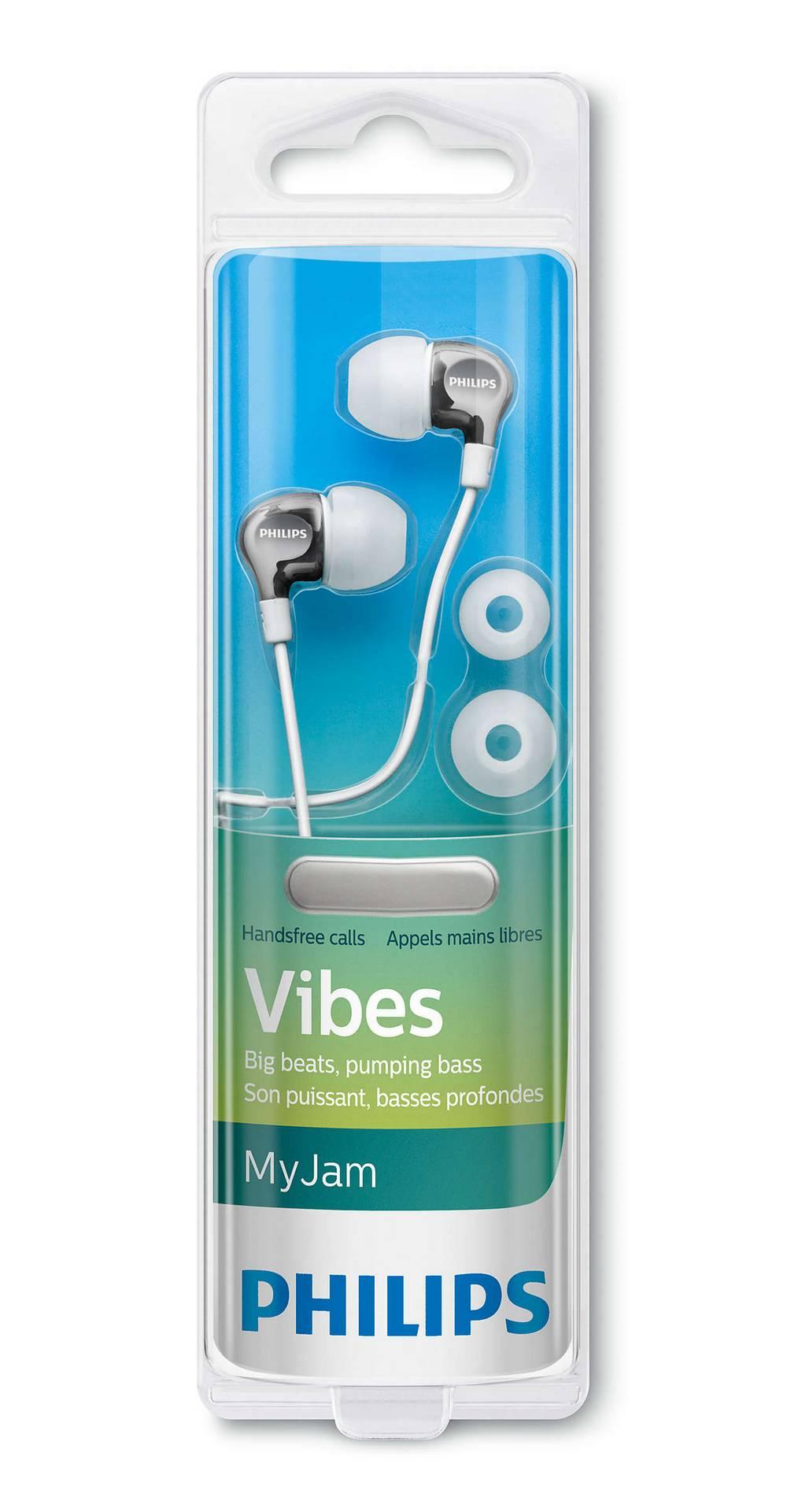 Hands Free Philips MyJam Vibes SHE3705WT/00 Λευκό με Μικρόφωνο