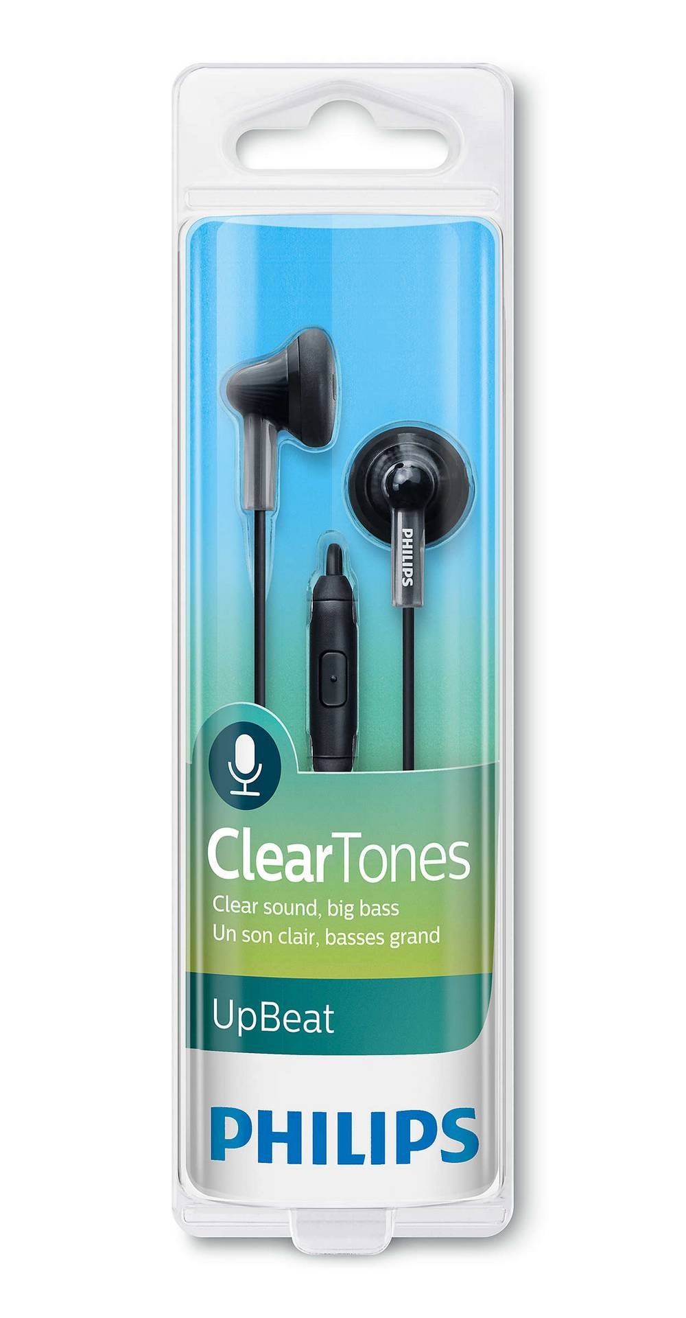 Hands Free Philips UpBeat ClearTones SHE3015BK/00 Μαύρο με Μικρόφωνο