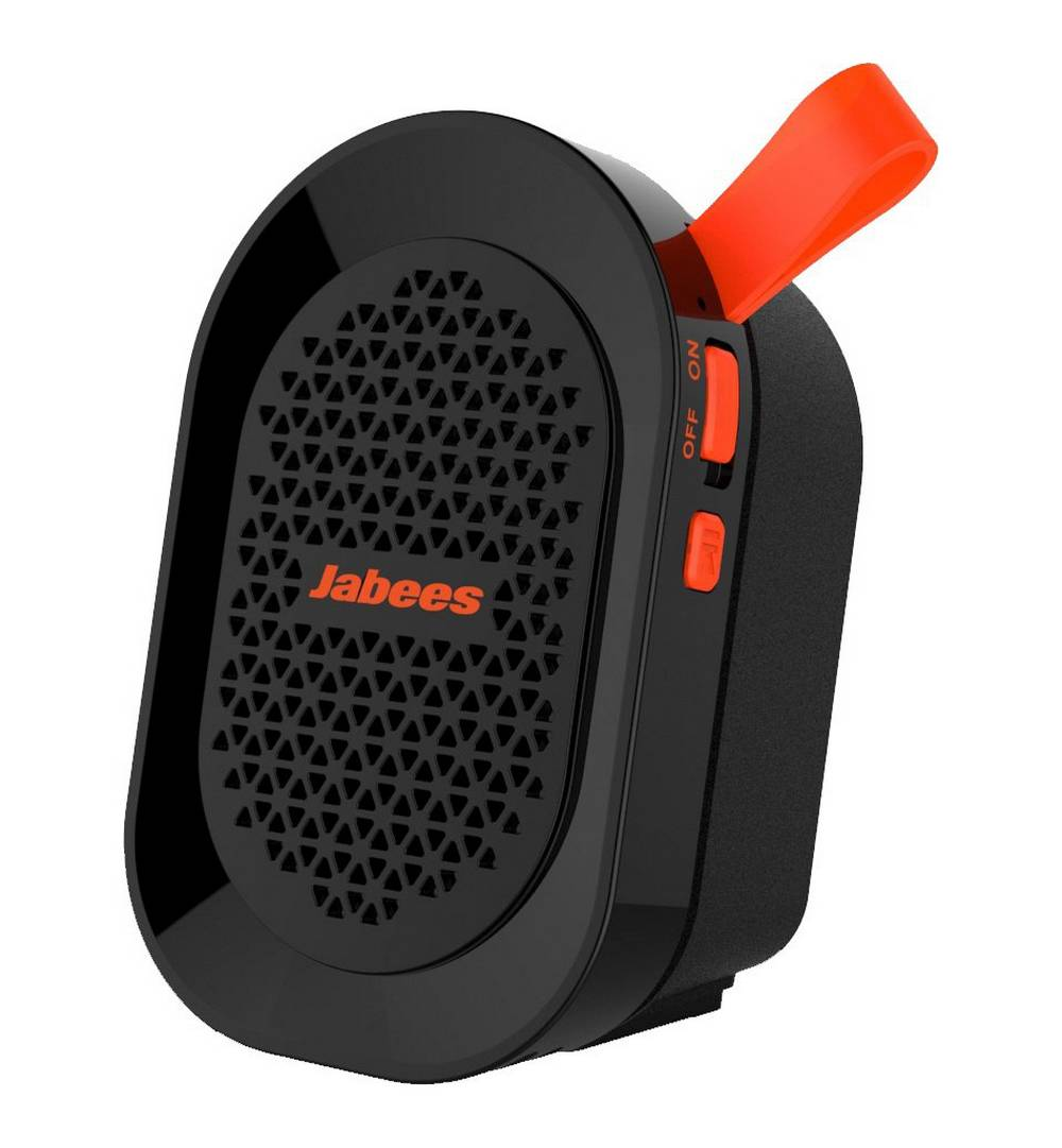 Φορητό Ηχείο Εξωτερικού Χώρου Bluetooth Jabees beatBOX Mini 3W IPX4 Μαύρο - Πορτοκαλί με Ανοιχτή Ακρόαση και Audio-in