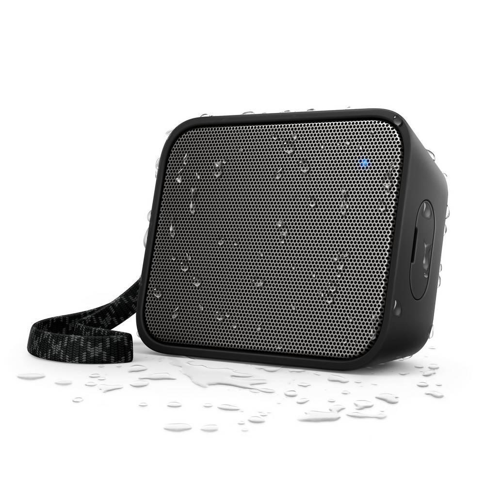 Φορητό Ηχείο Bluetooth Philips Pixel Pop BT110B/00 4W Sweat-Proof IPX4 Μαύρο με Ανοιχτή Ακρόαση και Σύνδεση Audio-in 3.5mm