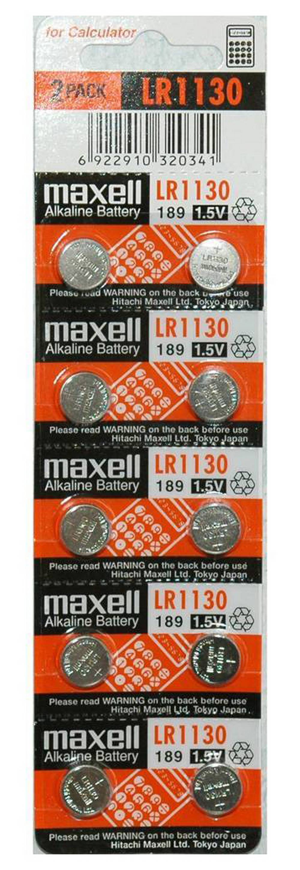 Buttoncell Maxell LR1130 AG10 LR54 389 390 Τεμ. 10