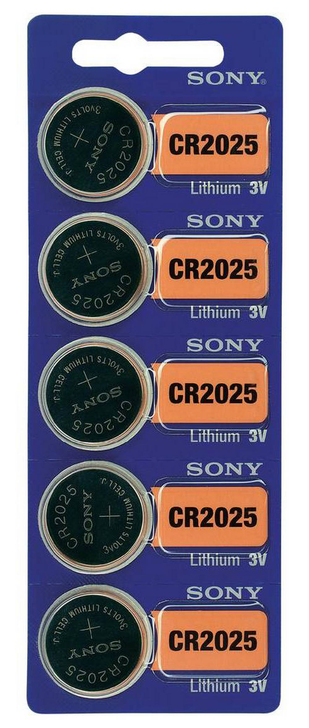 Buttoncell Lithium Electronics Sony CR2025 Τεμ. 5