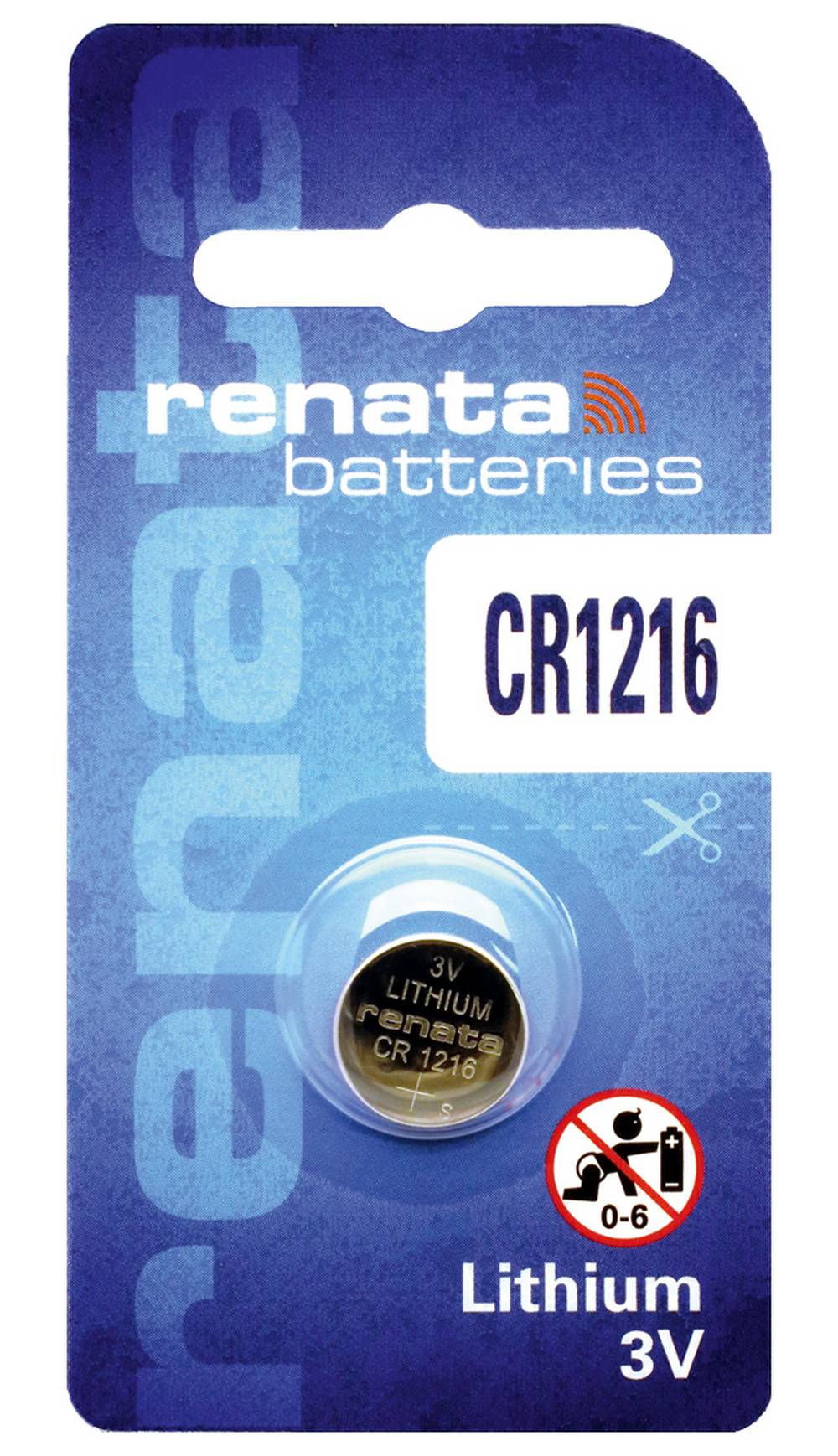 Buttoncell Lithium Electronics Renata CR1216 Τεμ. 1