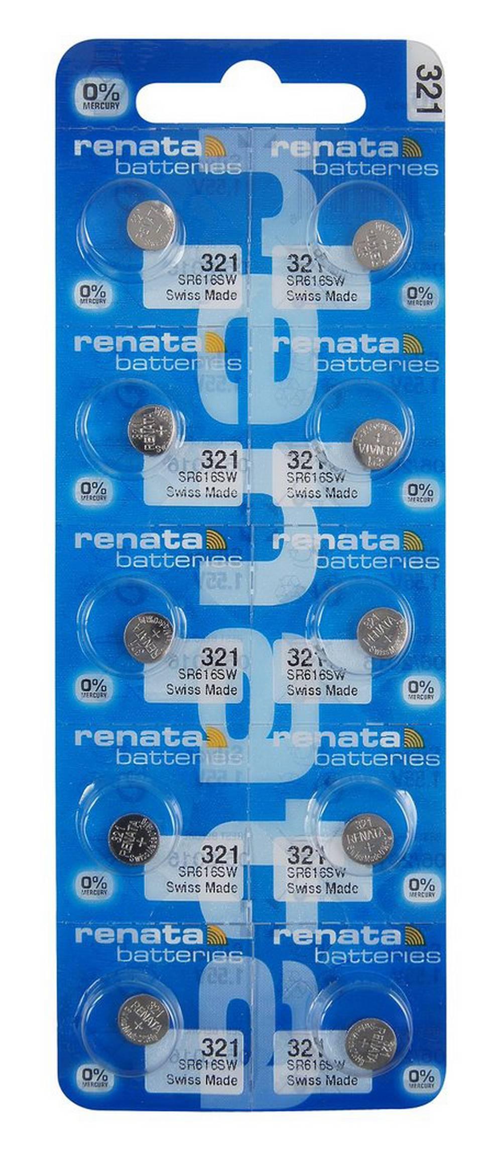 Buttoncell Renata 321 SR616SW Τεμ. 10