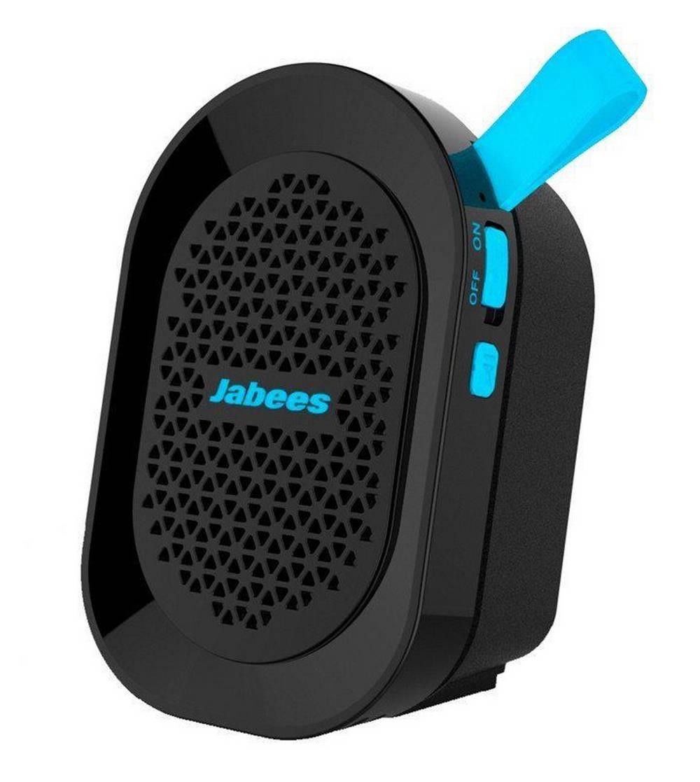 Φορητό Ηχείο Εξωτερικού Χώρου Bluetooth Jabees beatBOX Mini 3W IPX4 Μαύρο - Μπλέ με Ανοιχτή Ακρόαση και Audio-in