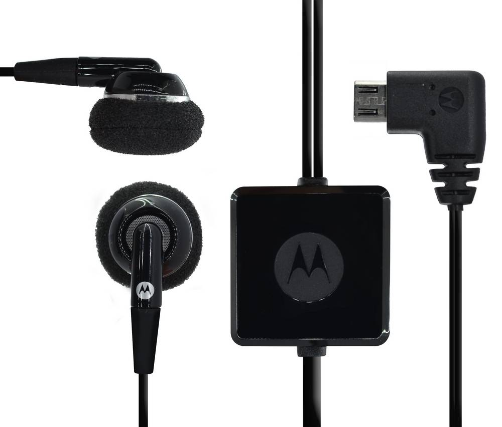 Hands Free Stereo Motorola SYN1458B Micro USB Μαύρο Original Bulk
