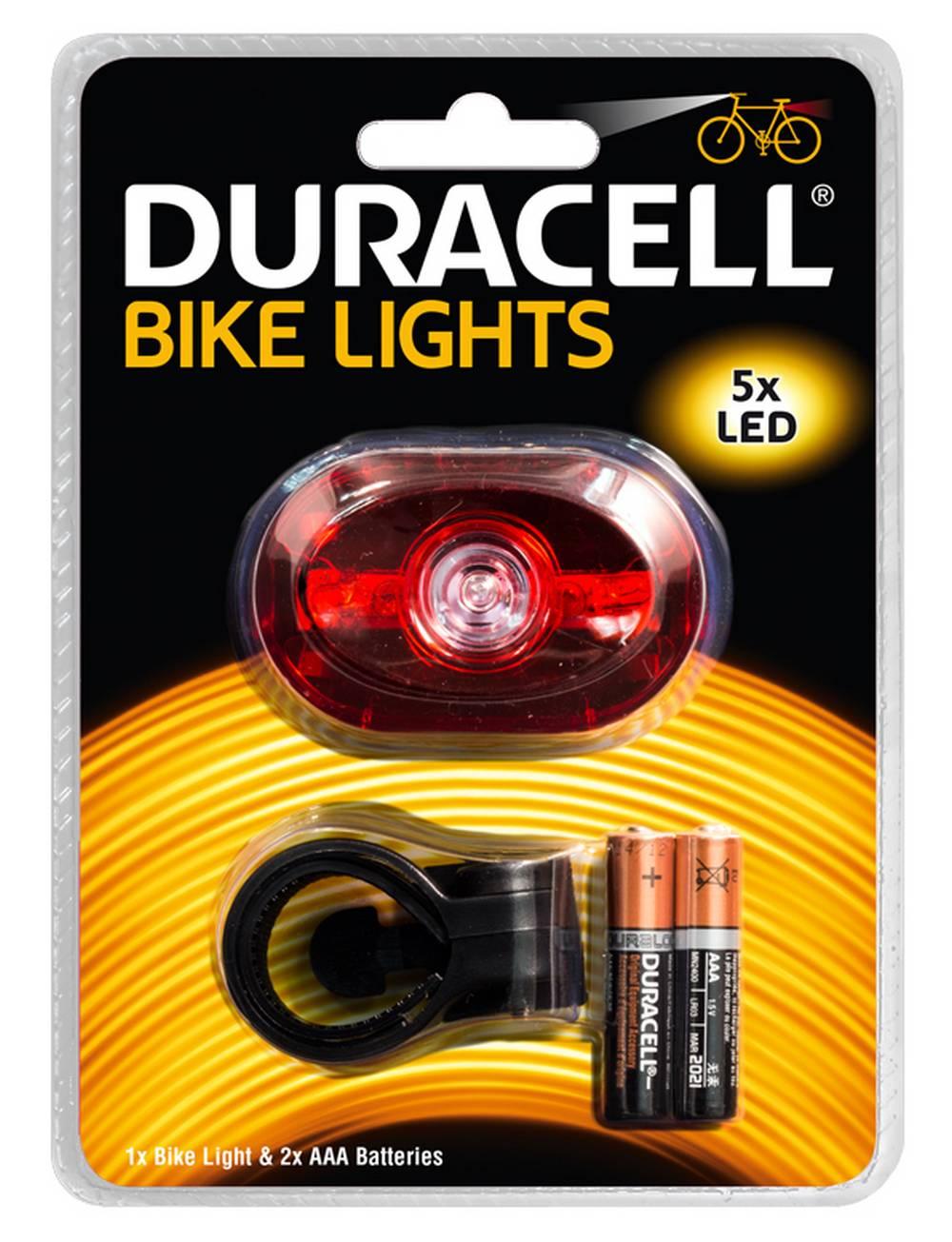 Φακός Ποδηλάτου Duracell 5 Led BIK-B03RDU με Μπαταρίες AAA 2 Τεμ.