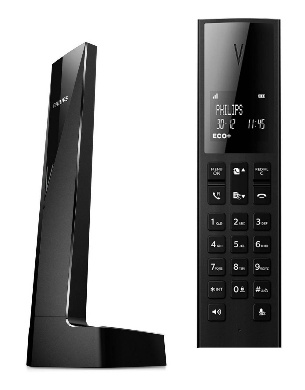 Ασύρματο Ψηφιακό Τηλέφωνο Philips Linea V M3501B/23 Μαύρο με Λειτουργία ECO+