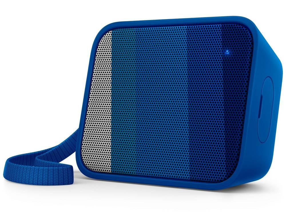 Φορητό Ηχείο Bluetooth Philips Pixel Pop BT110A/00 4W Sweat-Proof IPX4 Μπλέ με Ανοιχτή Ακρόαση και Σύνδεση Audio-in 3.5mm
