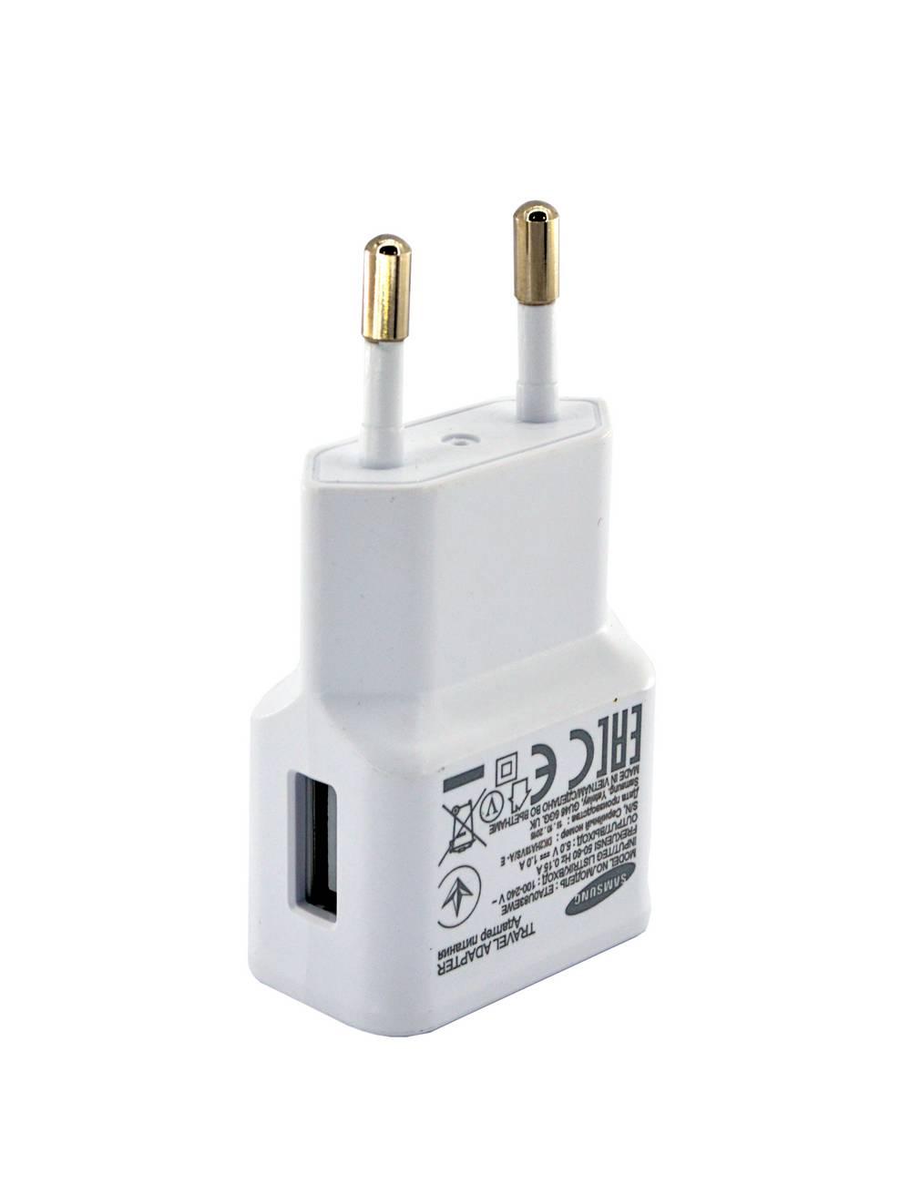 Φορτιστής Ταξιδίου Samsung ETA0U83EWE USB 1A Λευκός Original Bulk