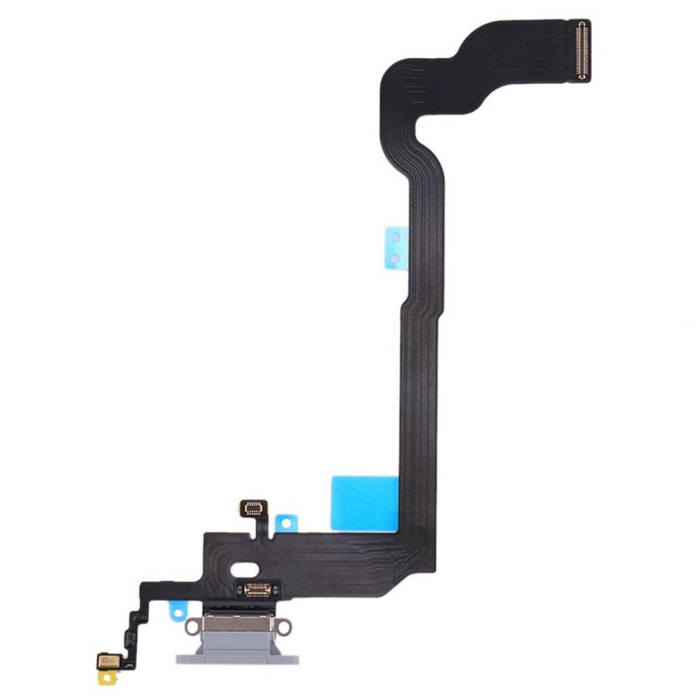 Επαφή Φόρτισης Apple iPhone X με Μικρόφωνο Ασημί OEM Type A