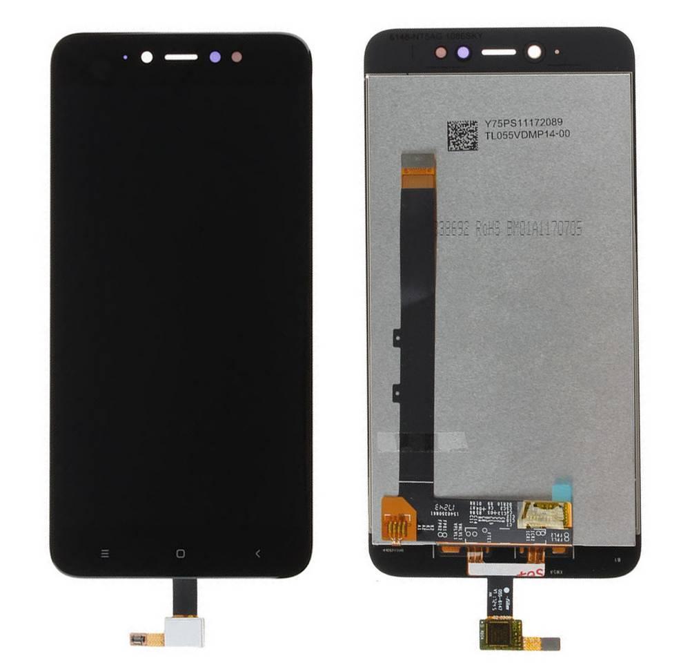 Οθόνη & Μηχανισμός Αφής Xiaomi Redmi Note 5A Prime Μαύρο (Διάσταση:150mm)