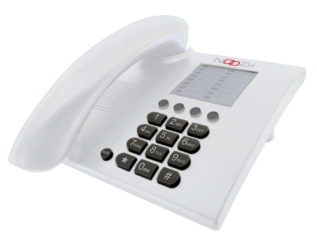 Σταθερό Ψηφιακό Τηλέφωνο Noozy Phinea N28 Λευκό
