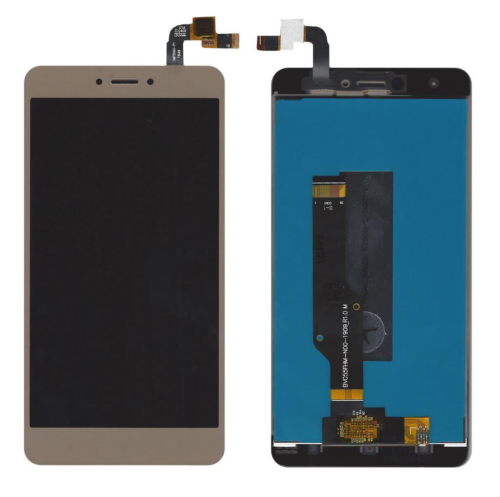 Οθόνη & Μηχανισμός Αφής Xiaomi Redmi Note 4 (Snapdragon) / Note 4X Χρυσαφί (Διάσταση:148mm)