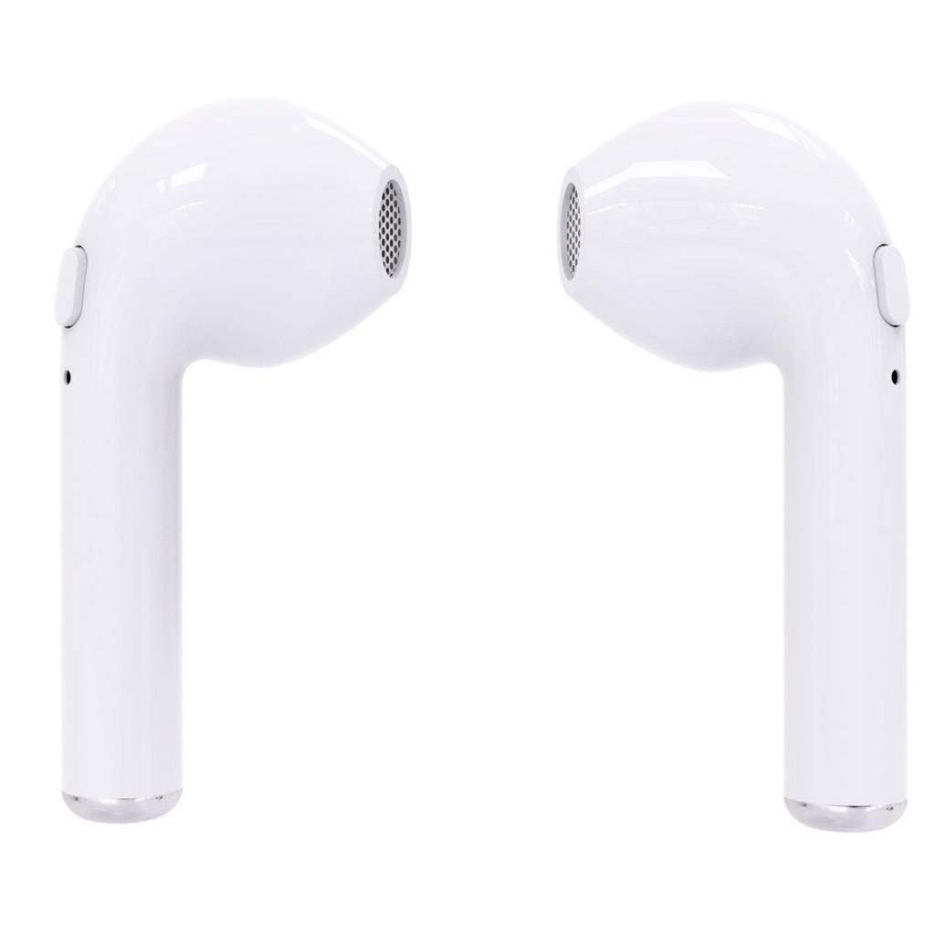 Wireless Bluetooth i7S Λευκό με Βάση Φόρτισης, Μεταφοράς