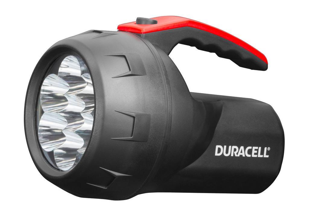 Φακός Duracell 7 Led Αδιάβροχος Μαύρος FLN-2 / 75 Lumens/Απόσταση 47m