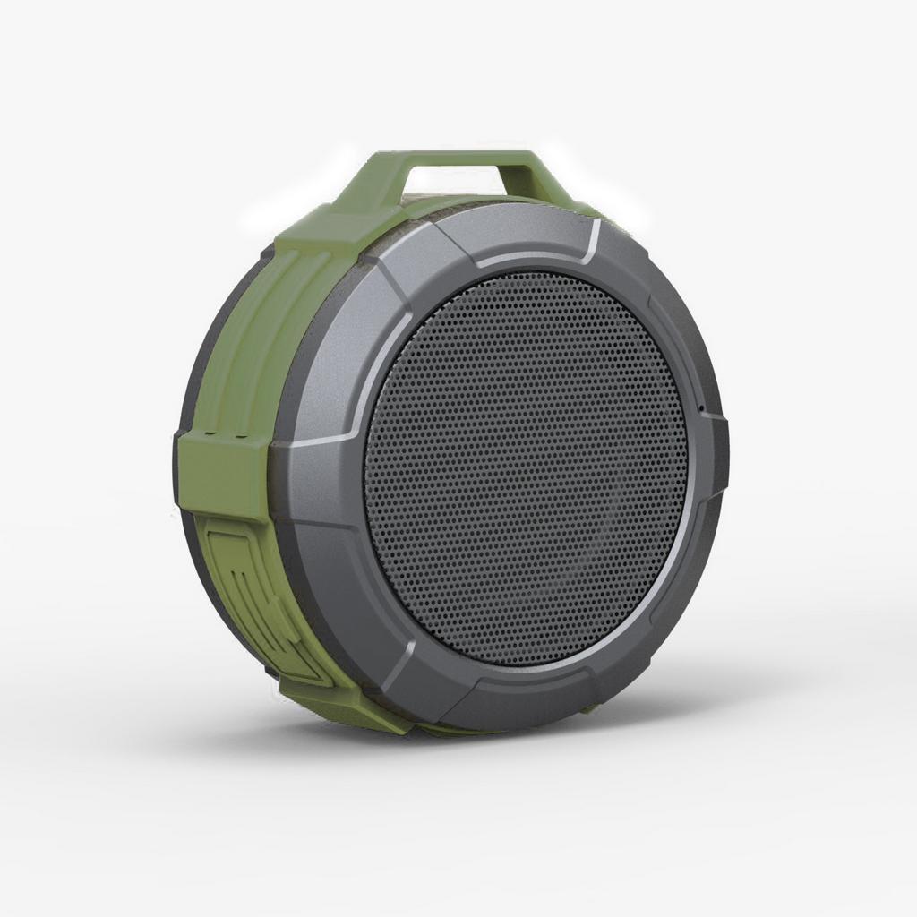 Φορητό Ηχείο Εξωτερικού Χώρου Bluetooth Maxton Telica MX51 3W IP5 Πράσινο με Ανοιχτή Ακρόαση, Audio-in, MicroSD