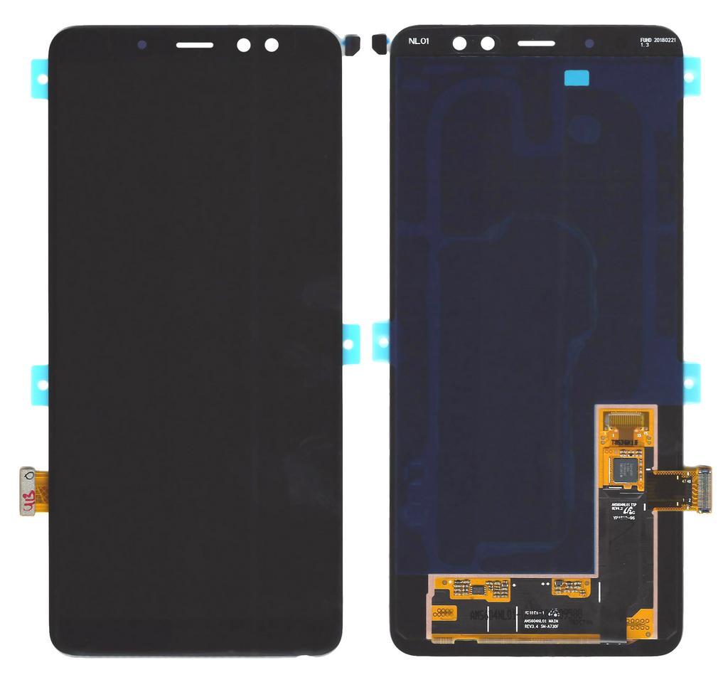 Γνήσια Οθόνη & Μηχανισμός Αφής Samsung SM-A730 Galaxy A8 plus (2018) με Κόλλα Μαύρο GH97-21534A