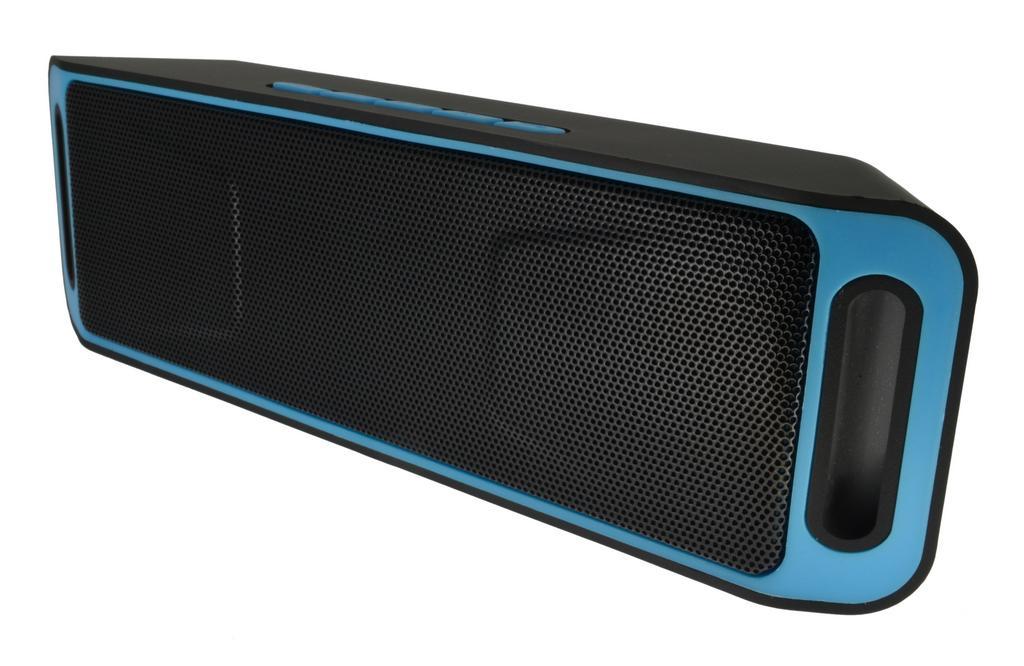 Φορητό Ηχείο Bluetooth HMC-S208 2x3W/4Ω με Ραδιόφωνο, Audio-In, Ανοιχτή Ακρόαση και Υποδοχή USB Μαύρο-Μπλέ