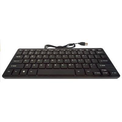 Πληκτρολόγιο Mobilis Mini Αδιάβροχο USB Μαύρο 28 x 12 cm