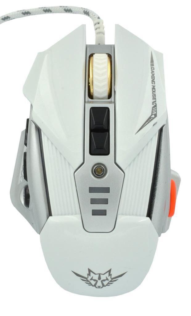 Ενσύρματο Ποντίκι Gaming Mouse Keywin Q9 Backlight 7 Πλήκτρων 3200 CPI Λευκό - Ασημί