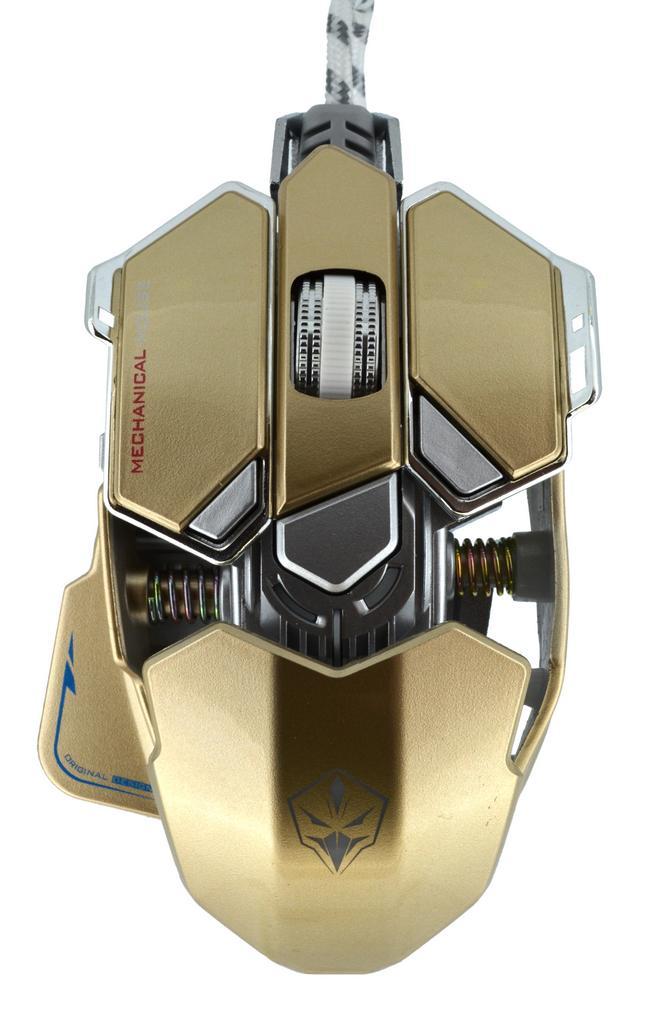 Ενσύρματο Ποντίκι Mechanical Gaming Mouse Luom G10 Led 10 Πλήκτρων 4000 DPI Χρυσαφί