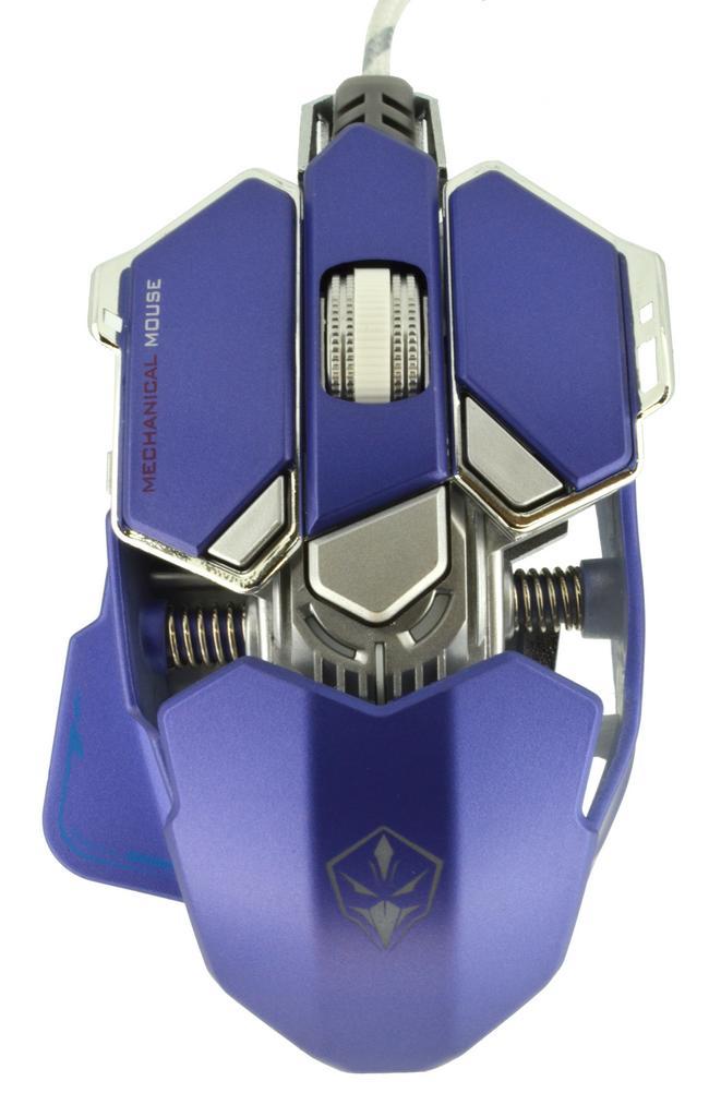 Ενσύρματο Ποντίκι Mechanical Gaming Mouse Luom G10 Led 10 Πλήκτρων 4000 DPI Μπλε