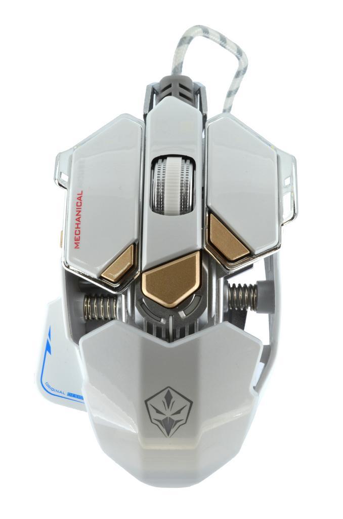 Ενσύρματο Ποντίκι Mechanical Gaming Mouse Luom G10 Led 10 Πλήκτρων 4000 DPI Λευκό