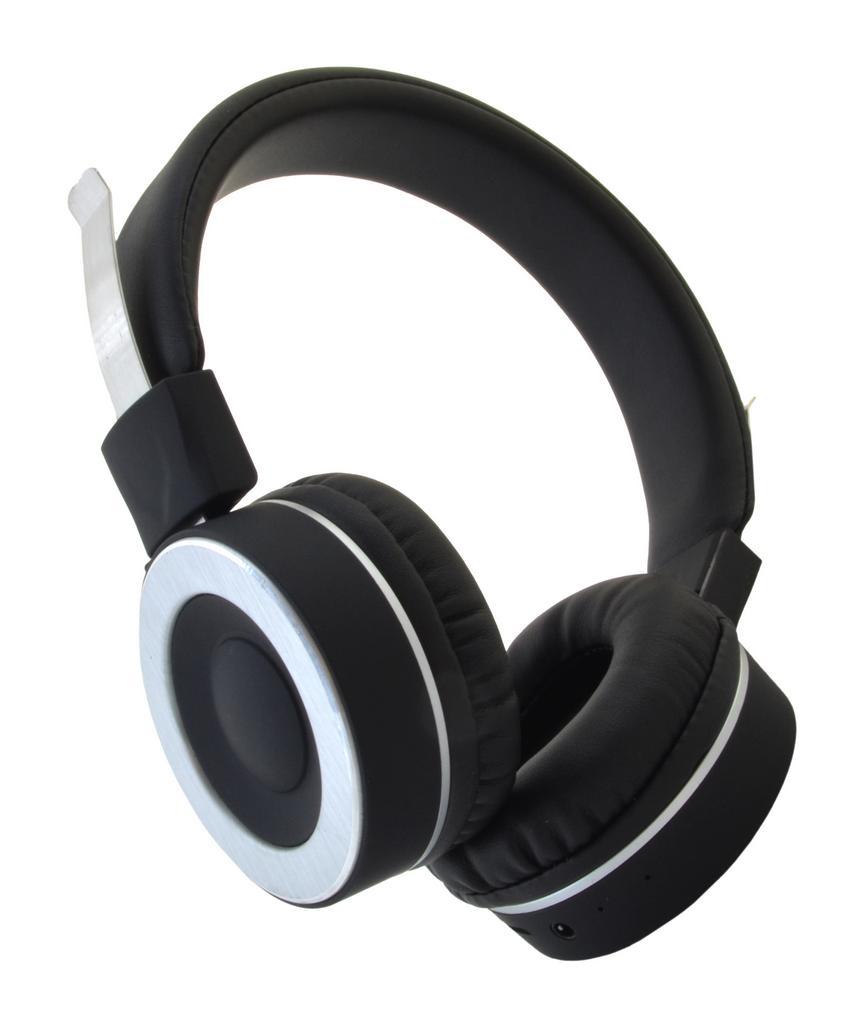 Bluetooth Ακουστικά Stereo Komc B102 Μαύρα με Μικρόφωνο και Υποδοχή Audio In