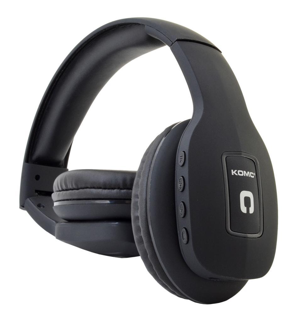 Bluetooth Ακουστικά Stereo Foldable Komc T11 Μαύρα με Μικρόφωνο και Υποδοχή Audio In