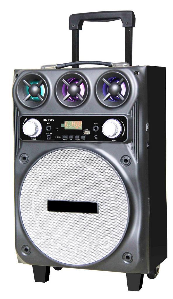 """Φορητό Ηχοσύστημα Trolley BK-1001 10"""" 30W Μαύρο με Θύρα Micro SD,USB, Bluetooth και Μικρόφωνο Karaoke"""