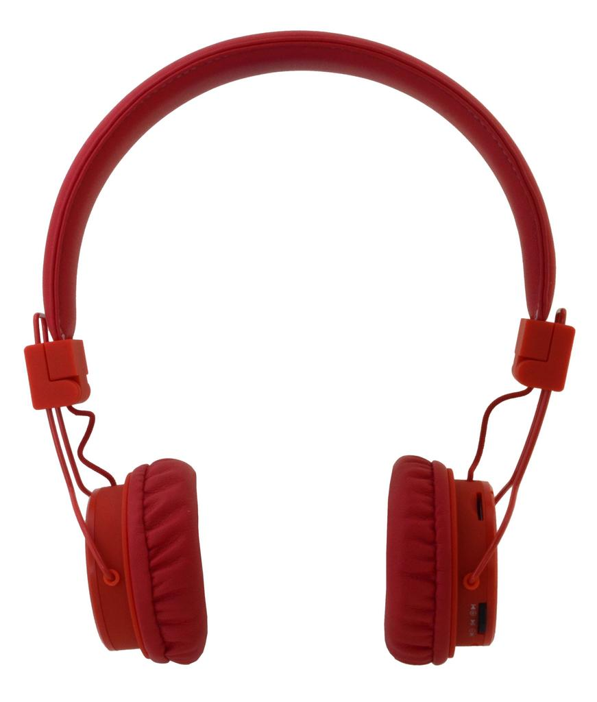 Bluetooth Ακουστικά Stereo NIA Foldable NIA-X3 Multi Pairing Κόκκινα με Μικρόφωνο, Ραδιόφωνο FM και MP3 Player με Κάρτα Μνήμης Micro SD