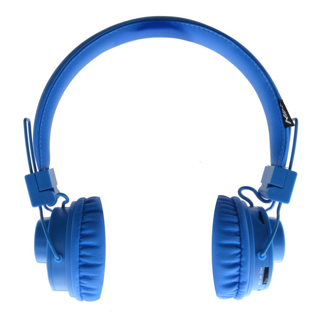 Bluetooth Ακουστικά Stereo NIA Foldable NIA-X5SP Μπλε με Μικρόφωνο, Εξωτερικό Ηχείο, Ραδιόφωνο FM, Audio In και MP3 Player με Κάρτα Μνήμης Micro SD