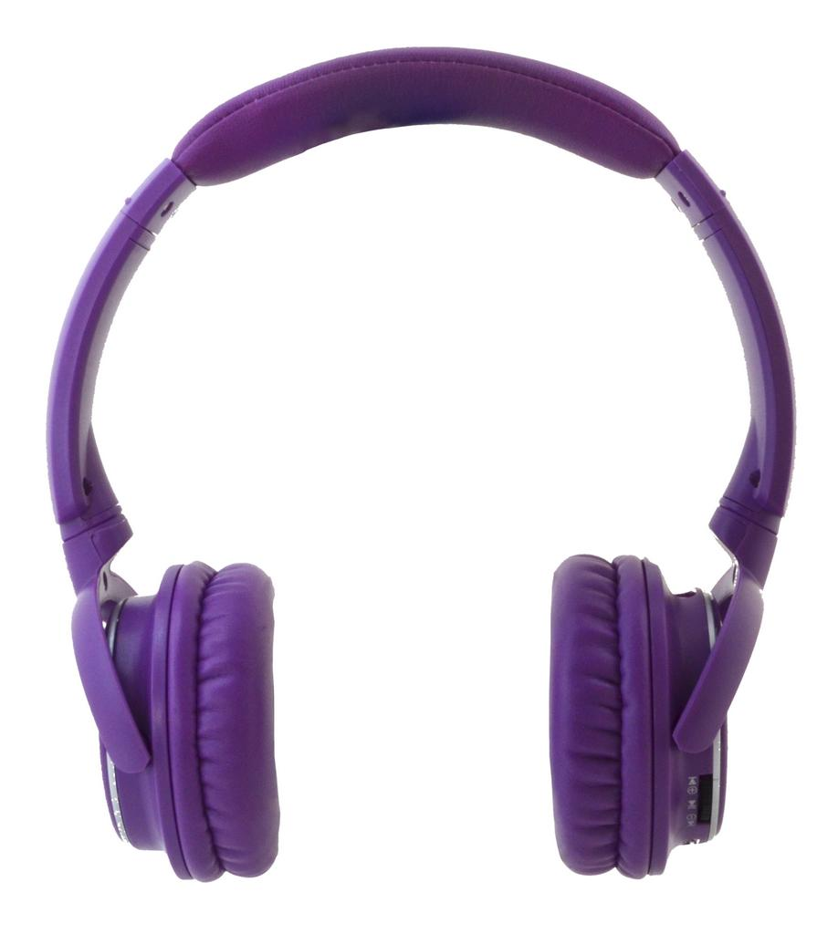 Bluetooth Ακουστικά Stereo NIA-Q1 Μωβ με Μικρόφωνο, Ραδιόφωνο FM, Audio In και MP3 Player με Κάρτα Μνήμης Micro SD