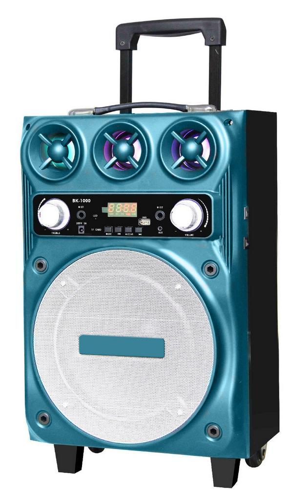"""Φορητό Ηχοσύστημα Trolley BK-1000 10"""" 30W Μπλε με Θύρα Micro SD,USB, Bluetooth και Μικρόφωνο Karaoke"""