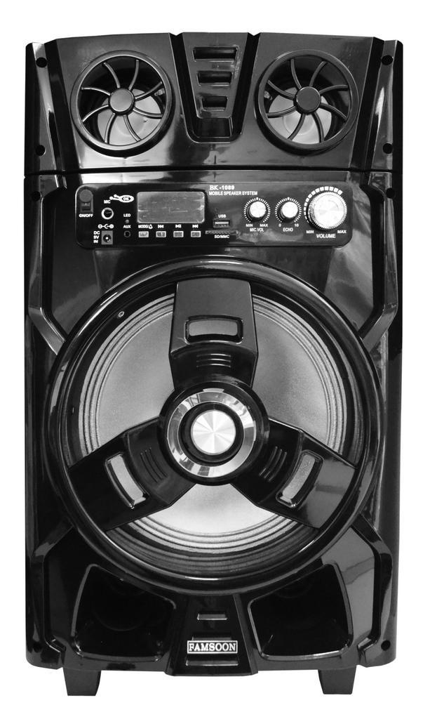Φορητό Ηχοσύστημα BK-1089BT 50W Μαύρο με Bluetooth,Subwoofer,Audio In,Θύρα Micro SD, Ραδιόφωνο FM και Μικρόφωνο Karaoke
