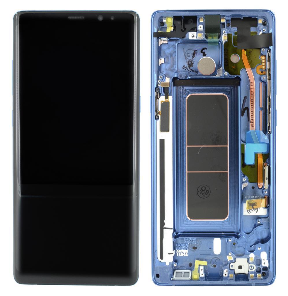 Γνήσια Οθόνη & Μηχανισμός Αφής Samsung SM-N950F Galaxy Note 8 Μπλε GH97-21065B