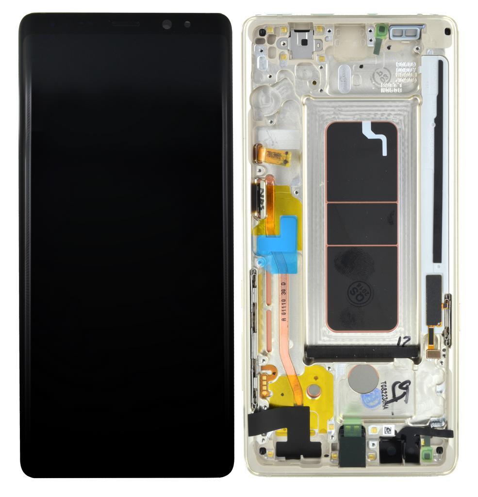 Γνήσια Οθόνη & Μηχανισμός Αφής Samsung SM-N950F Galaxy Note 8 Χρυσαφί GH97-21065D