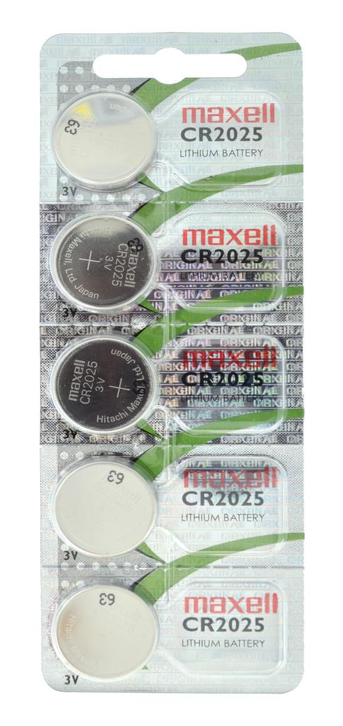 Buttoncell Maxell CR2025 3V Τεμ. 5