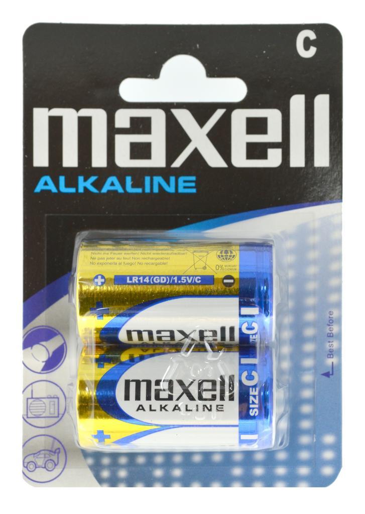 Μπαταρία Αλκαλική Maxell LR14 size C Τεμ. 2