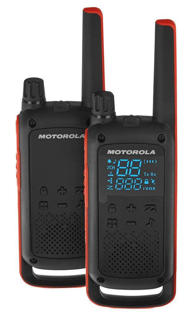 Walkie Talkie Motorola Go Adventure PMR T82 Μαύρο με Φακό Led και Υποδοχή Hands Free.  Εύρος Κάλυψης 10 km