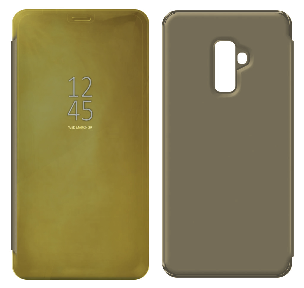 Θήκη Book Kview Standing Cover για Samsung SM-A605F Galaxy A6+ Χρυσαφί