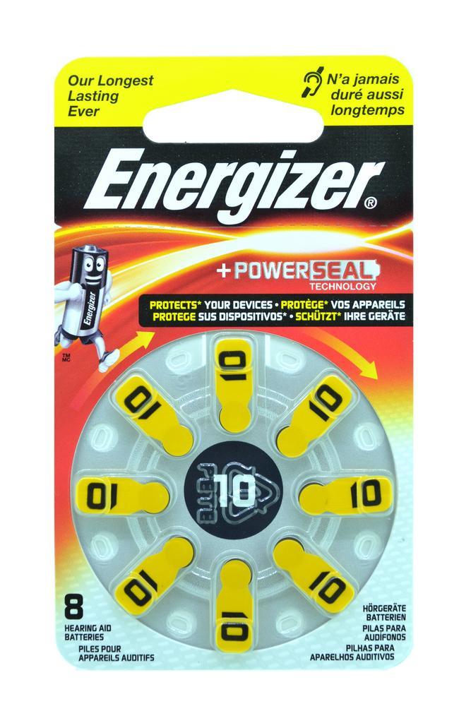 Μπαταρίες Ακουστικών Βαρηκοΐας Energizer Zinc Air 10 1.4V Τεμ. 8