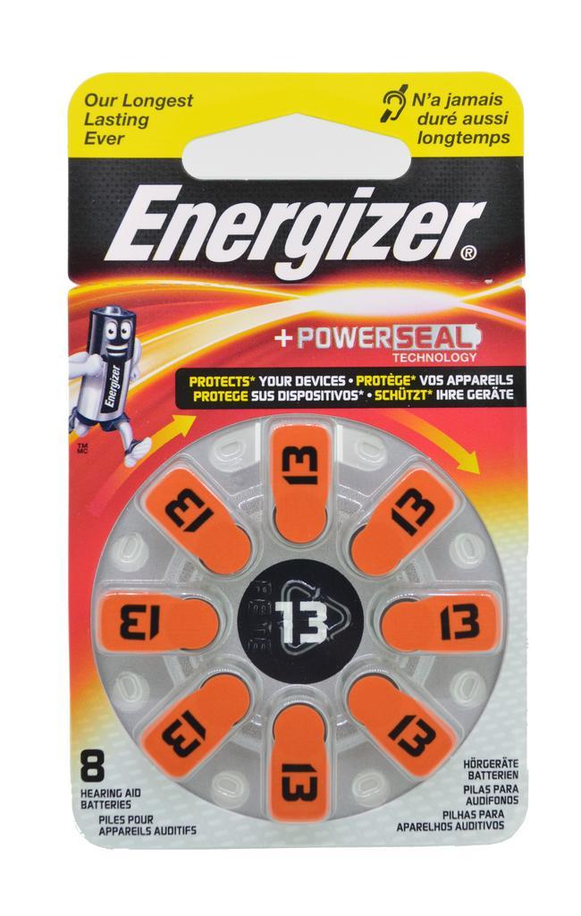 Μπαταρίες Ακουστικών Βαρηκοΐας Energizer Zinc Air 13 1.4V Τεμ. 8