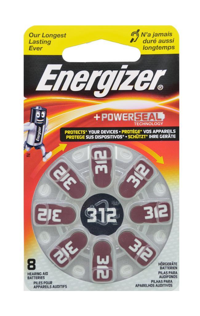 Μπαταρίες Ακουστικών Βαρηκοΐας Energizer Zinc Air 312 1.4V Τεμ. 8