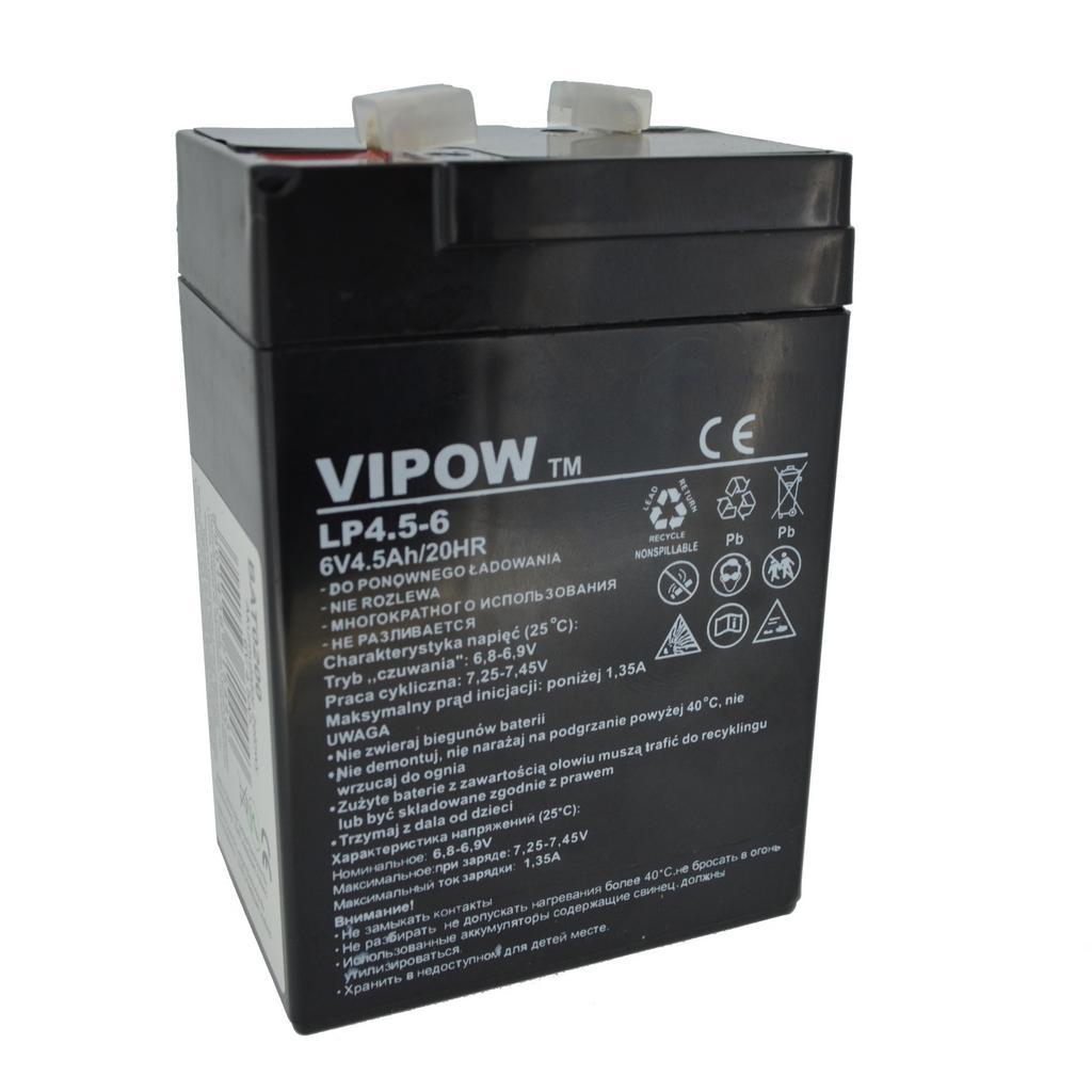 Μπαταρία για UPS Vipow LP4.5-6 (6V 4.5 Ah) 0,7 kg 100mm x 70mm x 45mm