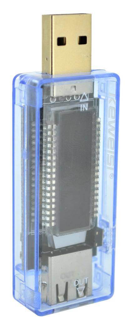 Δοκιμαστικό Τάσης Keweisi KWS-V20 με USB για Μπαταρίες με Βολτόμετρο και Αμπερόμετρο έως 20V με LCD Οθόνη